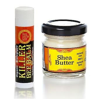 Skin Care Set-natural Honey Lip Balm & Shea Butter
