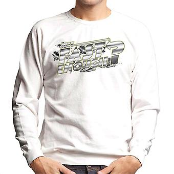 Fast and Furious Just Fast Enough Chrome Text Men's Sweatshirt
