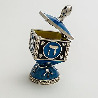 Blue Decorated Dreidel