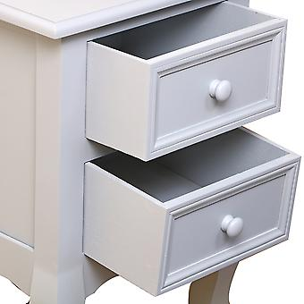 2 Drawers Bedside Table Cabinet
