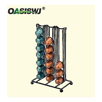 Nespresso Capsule Coffee Pods Holder Tower Stand Rack For 42 Pods