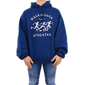 Balenciaga Bomber Athletes Hoodie Blue 641679TJVI74866 Top