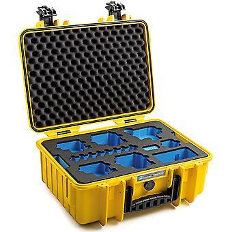 Custodia B&W GoPro Tipo 4000 per GoPro Hero 9 con inserto in schiuma, giallo