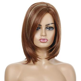 Women's Wig Fashion Women's Side Bangs Short Hair Set Synthetic Wigs Wig