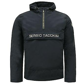 Sergio Tacchini In i Anorak Half Zip Up Mens Coat Jacket Navy 37750 200 A114A