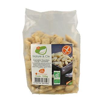 Gluten Free Chocolate and Hazelnuts Filled Cereals Bio 250 g
