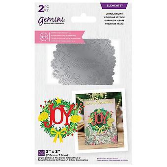 Gemini Joyful Wreath Double-Sided Die