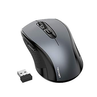 Tecknet wireless mouse, 2.4g cordless mice with nano receiver, 2000dpi 3 adjustable levels, ergonomi