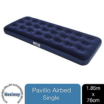 Pavillo Flocked Blow up Inflatable Airbed Camping Mattress 185 x 76 x 22cm