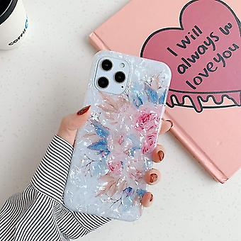iPhone 12 Pro Max shell mesterséges gyöngyház napraforgó virágok