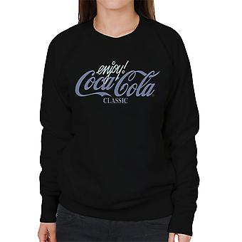 Coca Cola Classic Blue Pastel Logo Femmes & s Sweatshirt