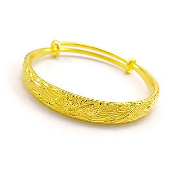 10mm Dubai Gold Plated Dragon Phoenix 999 Bracelet For Women