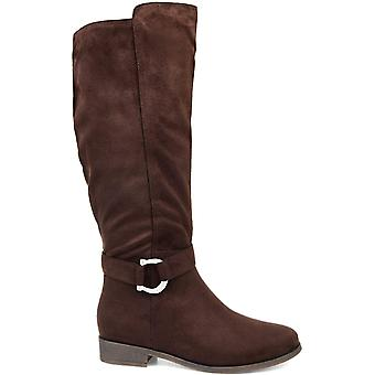 Brinley Co Womens cate Almond Toe Mid-Calf Fashion Boots
