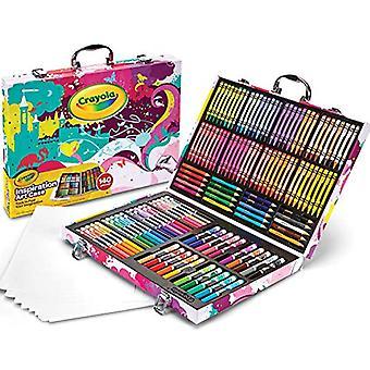 Crayola Inspiración Arte Caso Coloración Set, Regalo para niños mayores de 5 años, Rosa, 140 Conde