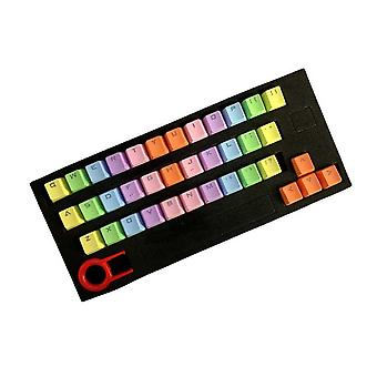 Gaming Replacement Backlight, Colorful Keycaps Pbt 37 Key Double Shot
