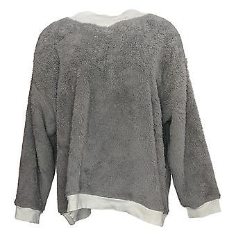 Cuddl Duds Women's Sweater Petite Serpa Pullover Grey