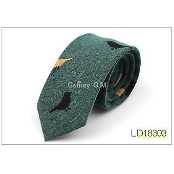 Men Cotton Narrow Tie Skinny Cravat Neckties For Winter Party