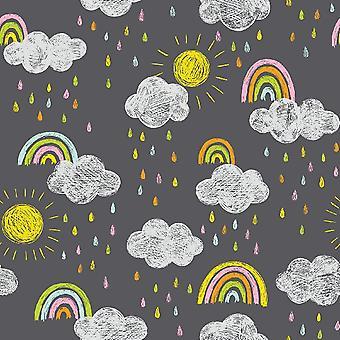 Baby Dream 8 Multicolor gedruckt Teppich aus Polyester, Baumwolle, L100xP200 cm
