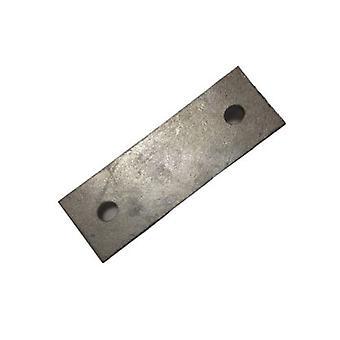 Bagside plade til M12 U-bolt 124 mm Centre 50 X 3 mm galvaniseret blødt stål