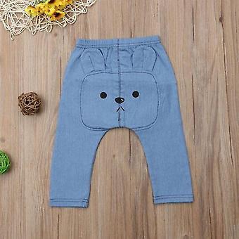Baby Denim Pants Animal Print Long Bottoms Trouser