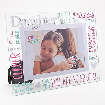 Widdop & Co. 3d Words  Glass Photo Frame 6 X 4 - Daughter
