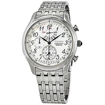 Seiko Chronograph Alarm Quartz Silver Dial Men's Watch SPC251P1