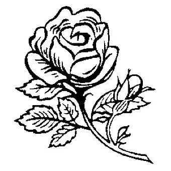 Enkelt rosetremontert stempel