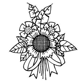 Zauberbinder Tammy Tutterow Cling Stempel - Sonnenblume Bündel