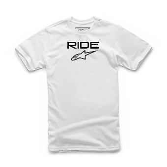 Alpinestars Men's T-Shirt ~ Ride 2.0 white black