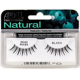 Ardell Natural Demi Pixies Black Easy To Apply Full False Eye Lashes