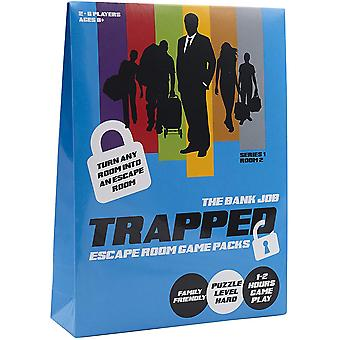Trapped scape room game bank job scape room at home board game