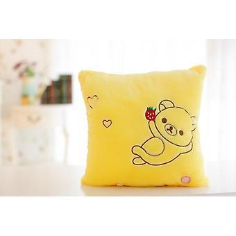 Luminous Pillow, Soft Stuffed Plush Glowing Star Cushion, Led Light Toy.