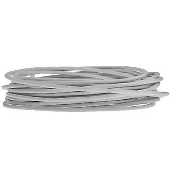 Genuine Leather Cord, Round 1.5mm,  By the Yard, Shimmer