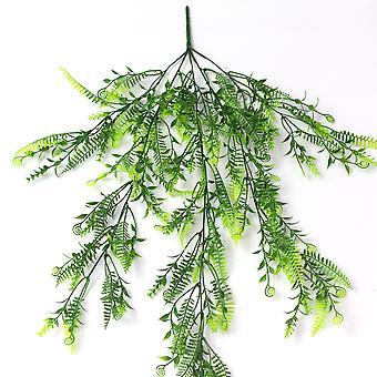Artificial plant persian leaf rattan plastic fake green plants 3pcs