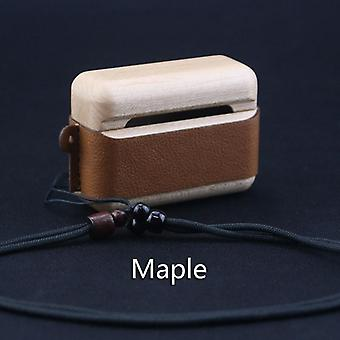 Protective skin case for airpods 1 2 3 pro rosewood walnut with lanyard
