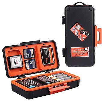 Kamera-Akku-Speicherkartenbox, wasserdicht und stoßfest, SD XQD CF, Compact-Flash-Kamera-Akku, AA,
