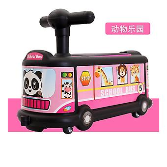 Bus Cartoon's Twisting Car 1-3 Years Old Baby Rolling Car Universal Silent