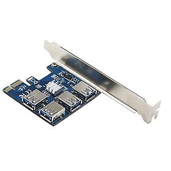 Adaptador do hub do multiplicador de slot USB 3.0