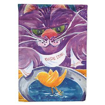 Les trésors de Caroline 6004Gf Chat violet Birdie Cher drapeau, petit, multicolore