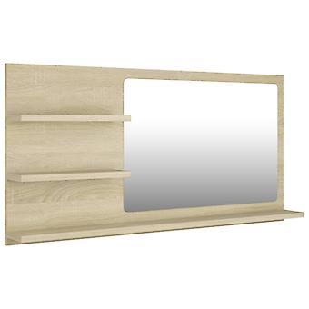vidaXL Badkamerspiegel Sonoma Eiken 90x10,5x45 cm Spaanplaat