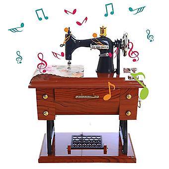 Mini ompelukone laatikko mekaaninen syntymäpäivä lahjapöytä sisustus cai288