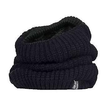 Doamnelor fleece căptușite gât tricotat chunky mai cald