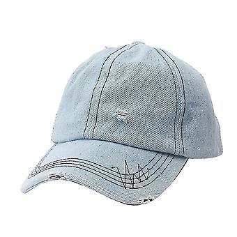 גל רדיו דיאגרמת ג'ינס בייסבול כובע רקמה היפ הופ קרע כובע