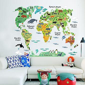 Regenboghorn Colorful World Map Wall Decal Sticker