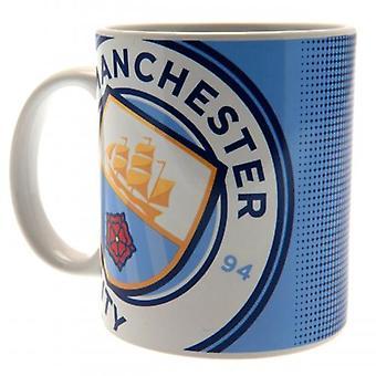 Manchester City FC Mugg Halftone