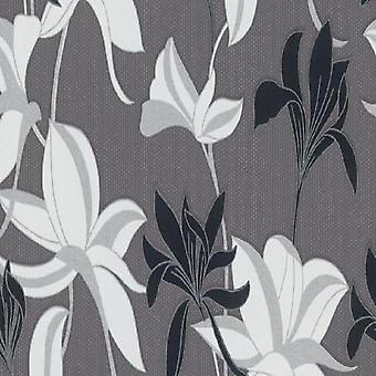 Erismann Flower Grey Wallpaper