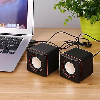 Mini draagbare vierkante bekabelde Usb audio muziekspeler luidspreker mp3 laptop pc