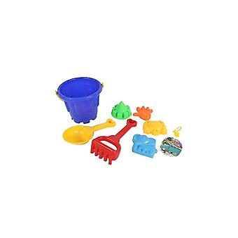 7 Pcs children's beach toys include  tools, shovel and rake