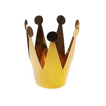 3 små gull kort krone fest hatter