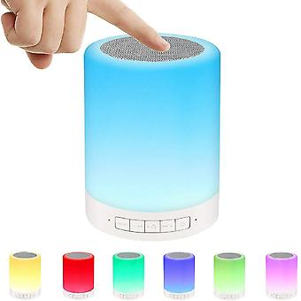 Ideal atmosphere night light for birthday / valentine's day / party - bluetooth speaker with night light, LED color changing RGB lamp - gift for children, teenagers, women, men,(white)